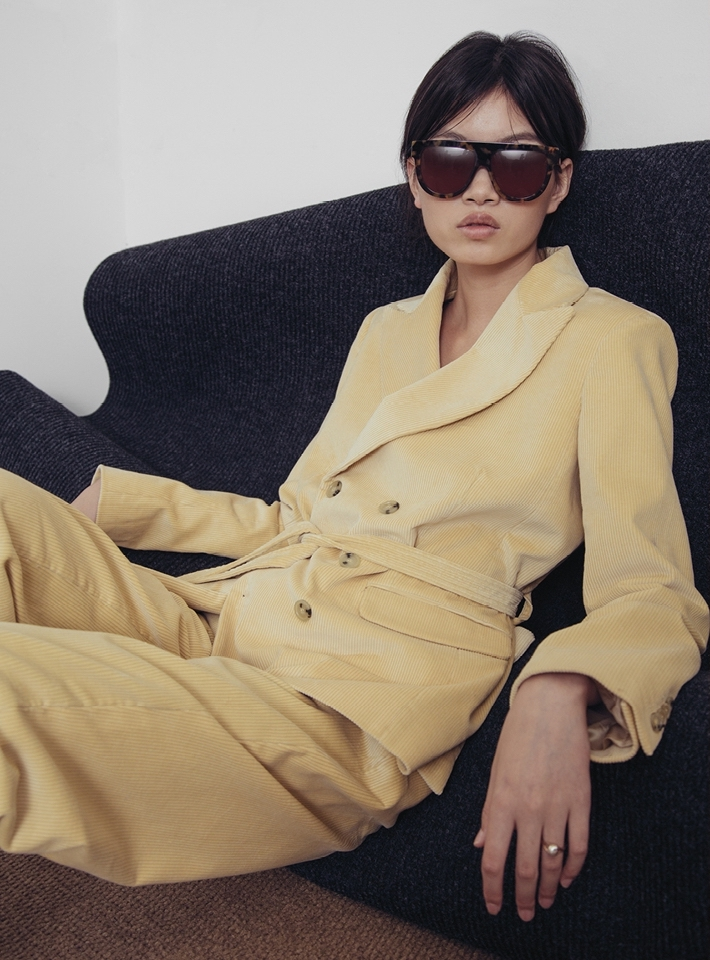 DA/DA Diane DucasseStraight Trousers in Wheat