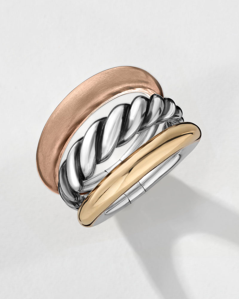 David Yurman Pure Form Three-Row Band Ring