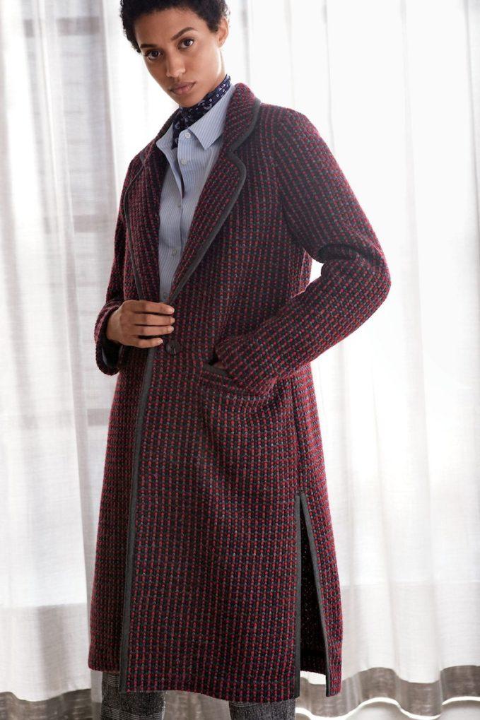 Diane Von Furstenberg Tweed Coat