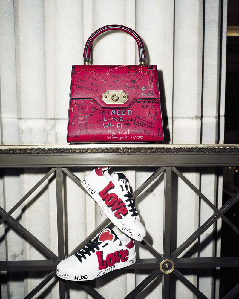 Dolce & Gabbana Classic Graffiti Top Handle Bag