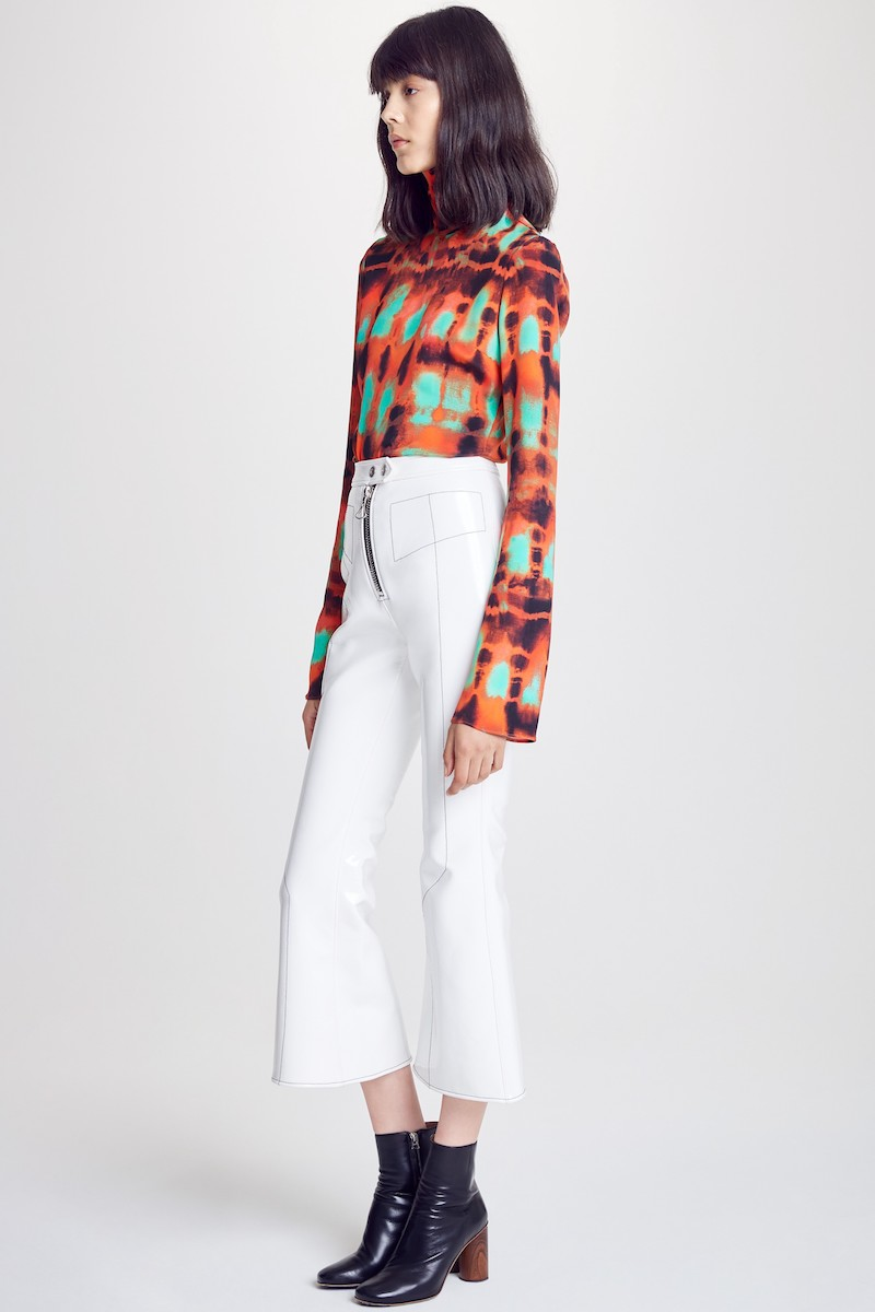 ELLERY Yuppie Printed Silk Turtleneck