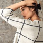 Eileen Fisher Windowpane Check Boxy Sweater 1