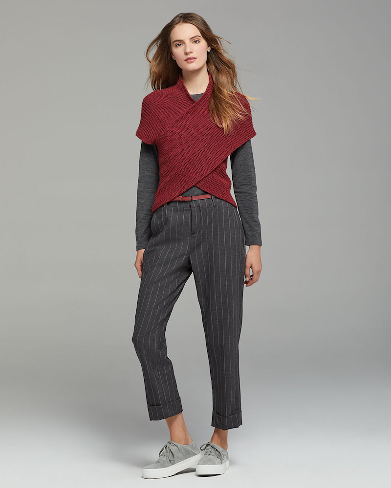 Eleventy Ribbed Wool-blend Crisscross Pullover