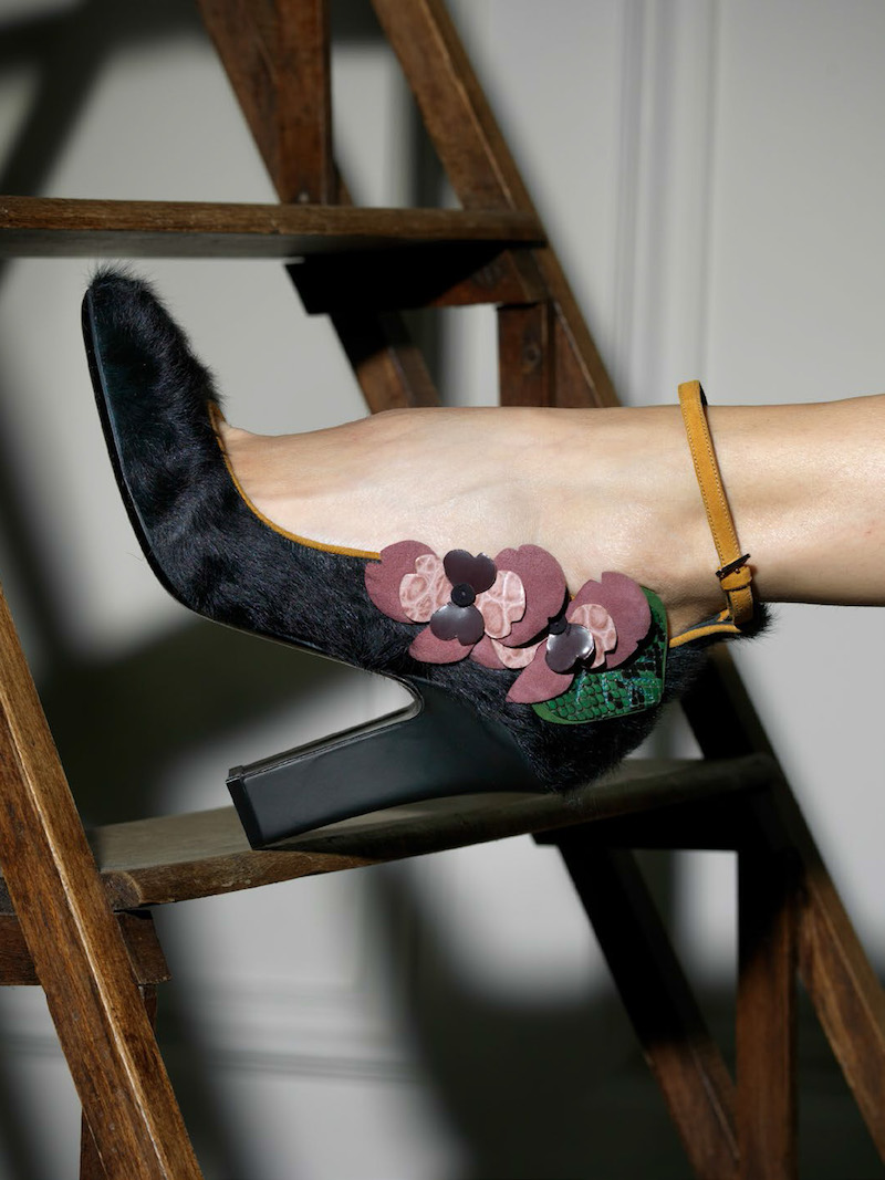 Fabrizio Viti Violets For Your Fur Ankle Pumps