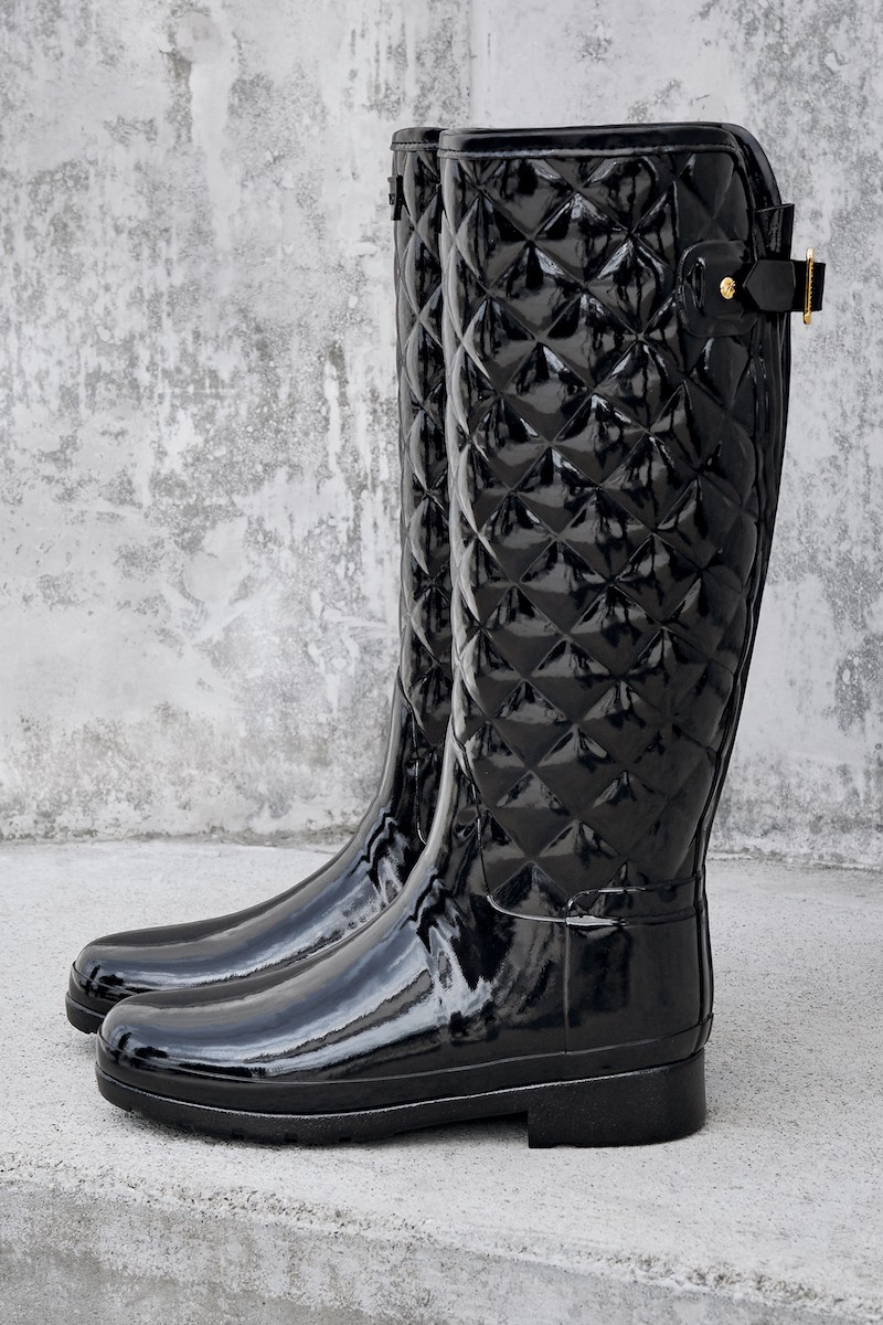 Hunter Original Refined High Gloss Quilted Rain Boot