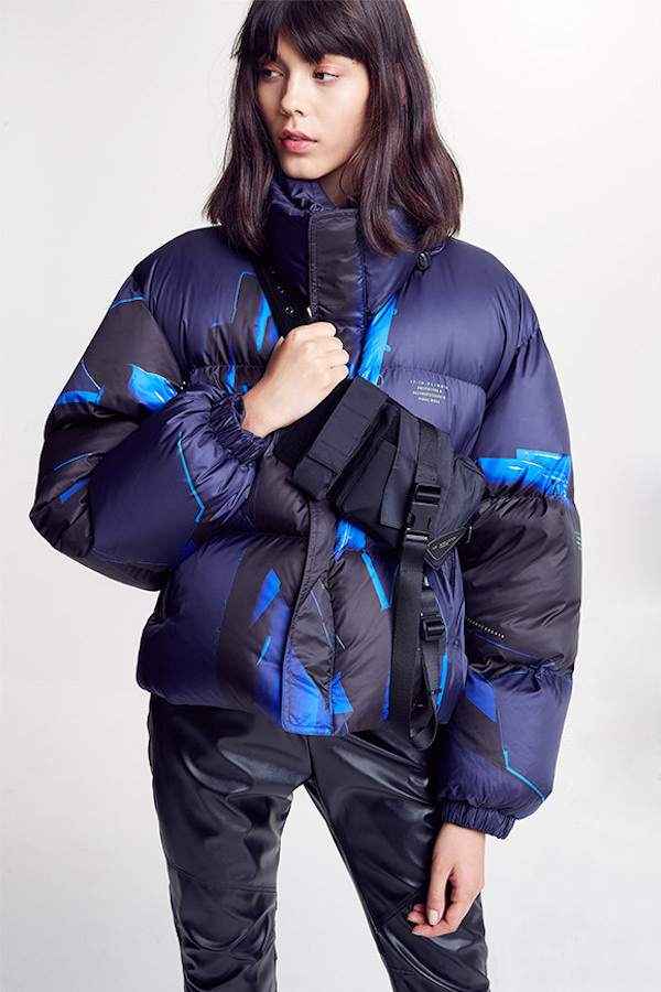 Hyein Seo Printed Down Bomber Jacket