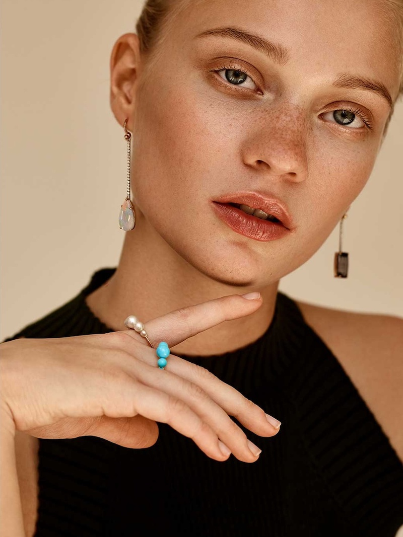 Irene Neuwirth Diamond, Opal & Rose-Gold Earring