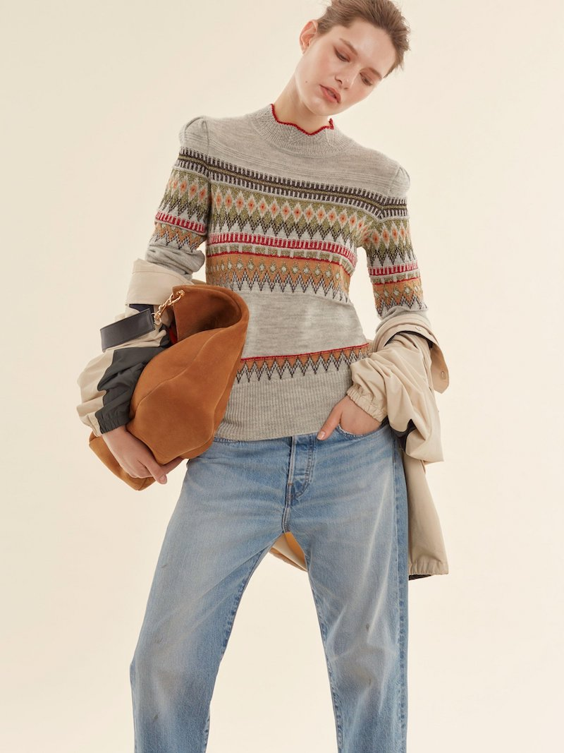 Isabel Marant Blake Fair Isle Knit Sweater