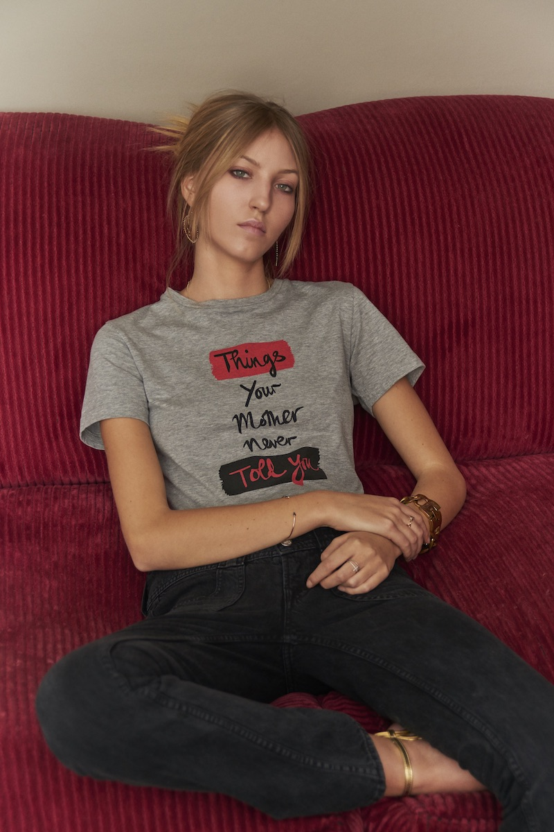 J Brand x Bella Freud Things Your Mother Never Told You in Heather Grey