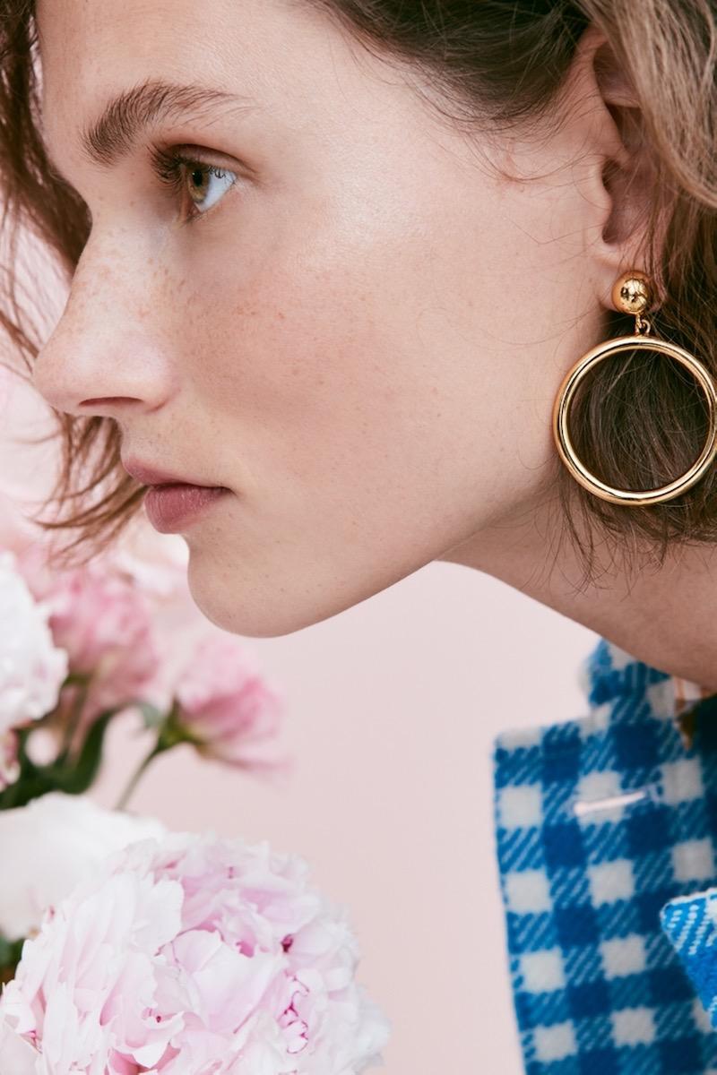 J.Crew Gold Circle Earrings