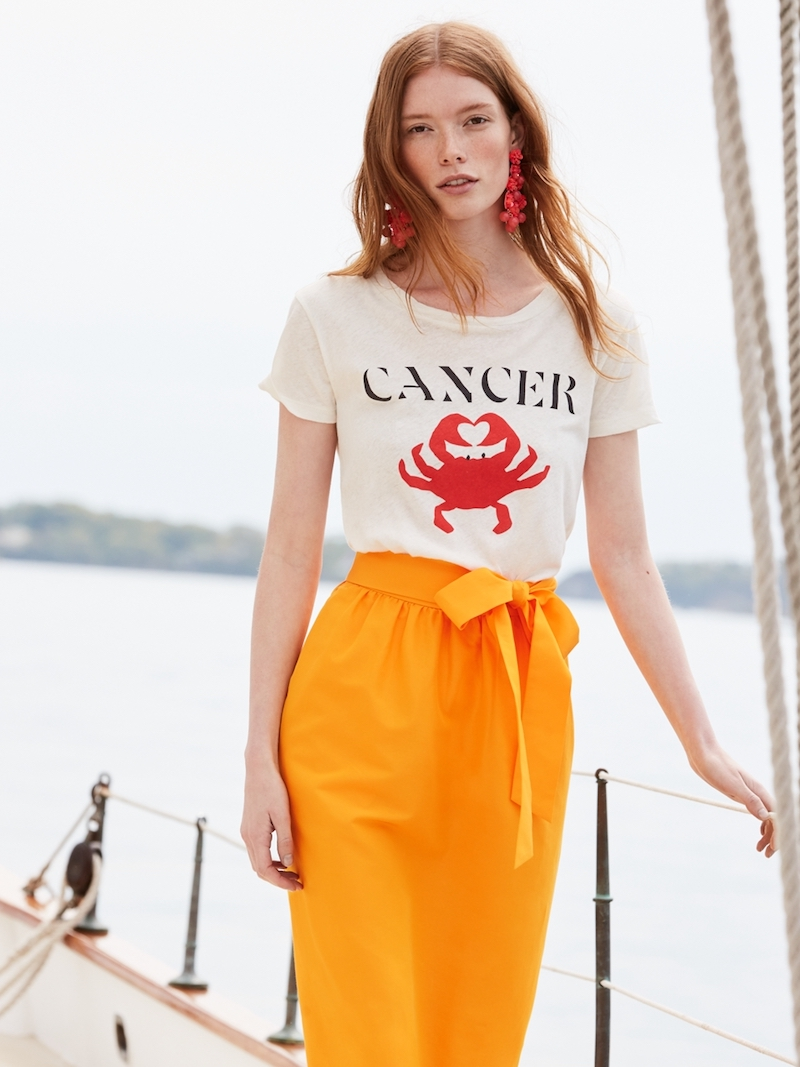 "J.Crew Horoscope T-Shirt In ""Cancer"""