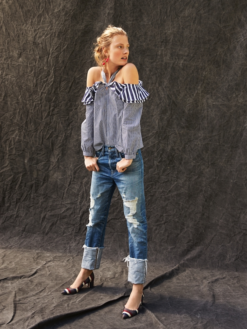 J.Crew Point Sur Distressed Selvedge Jean With Long Cuff