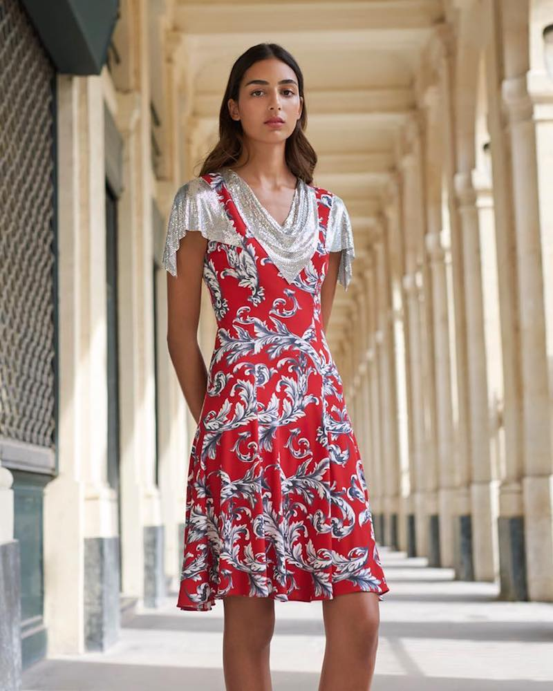 J.W. Anderson Embellished and Printed Dress