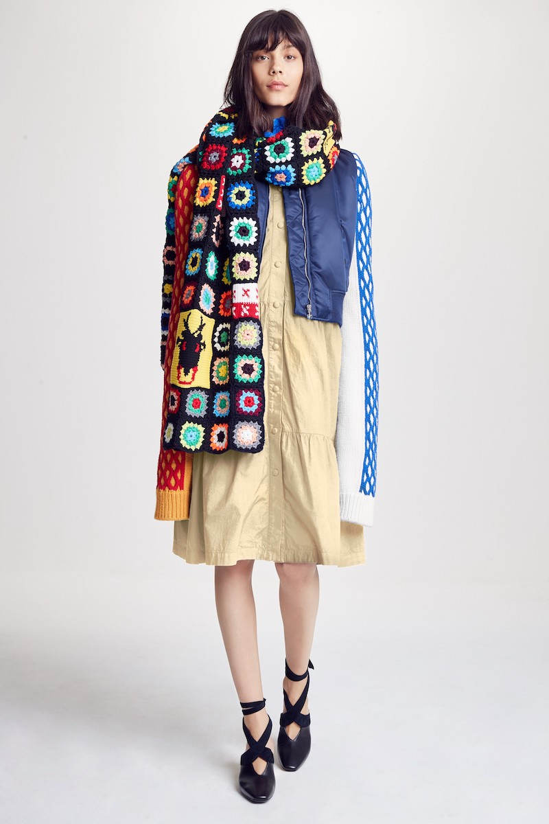 J.W.ANDERSON Multi Tier Washed Cotton Coat