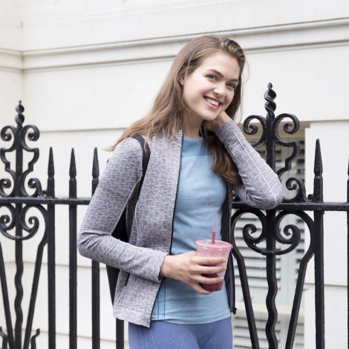 Jilla Activewear Grey Wanderlust Zip Jacket
