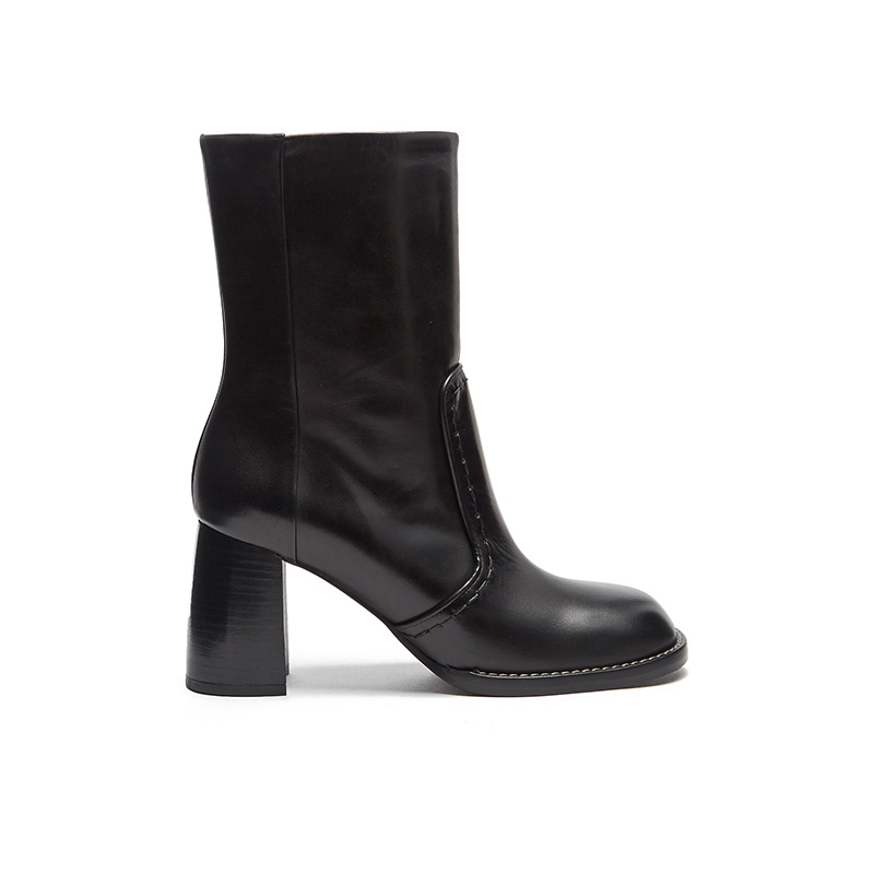 Joseph Block Heel Leather Ankle Boots