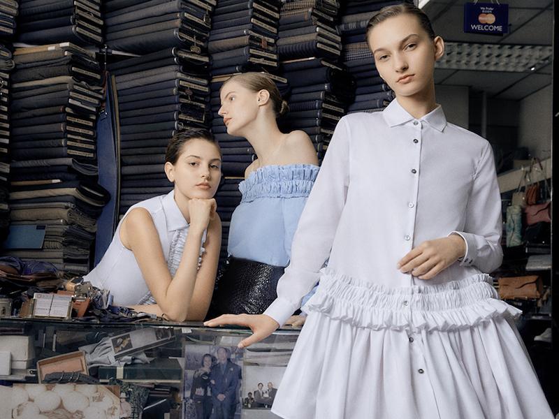 Jourden Embellished Cotton Drop-Waist Shirtdress