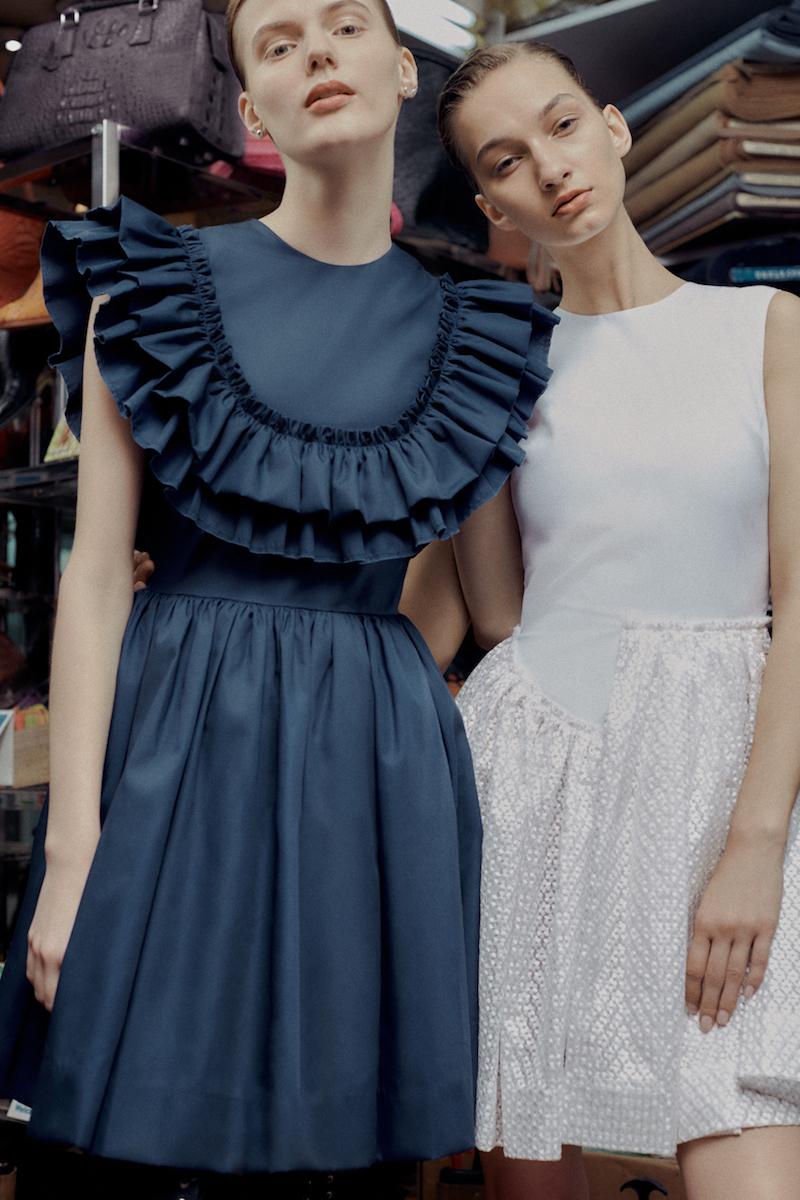 Jourden Embellished Cotton Fit & Flare Dress