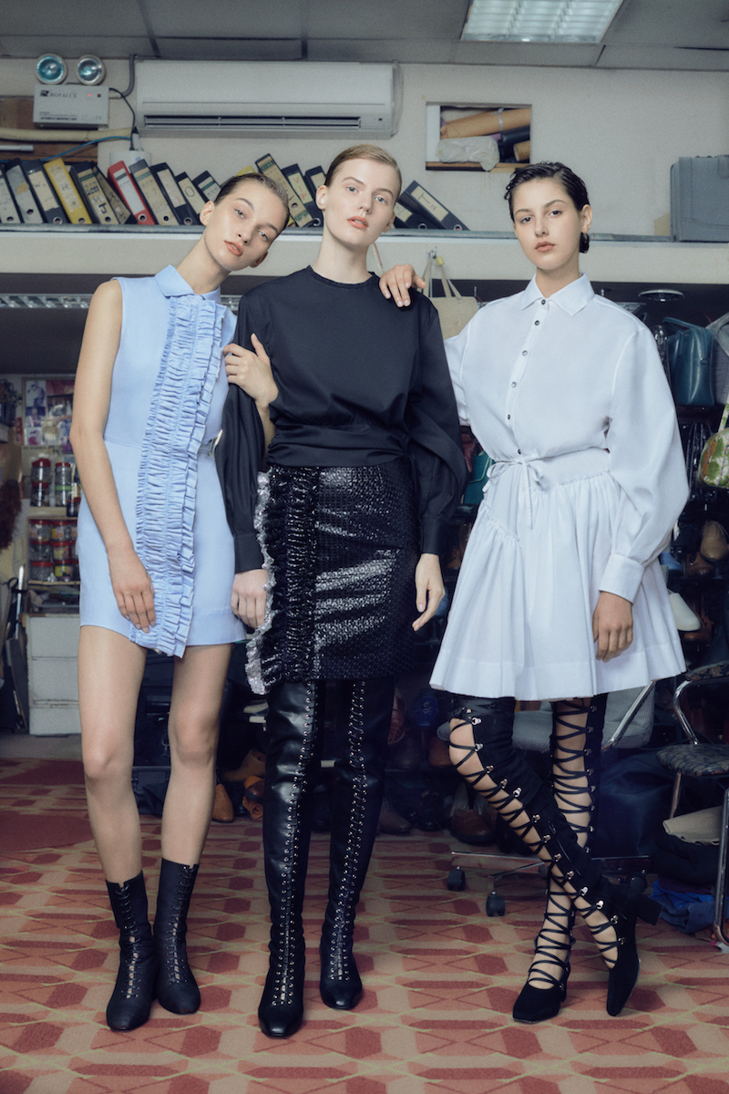 Jourden Embellished Mixed-Media Miniskirt