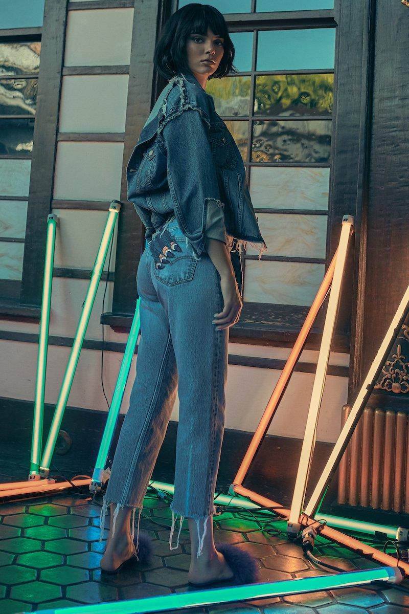 KENDALL + KYLIE Slash Vintage Jeans