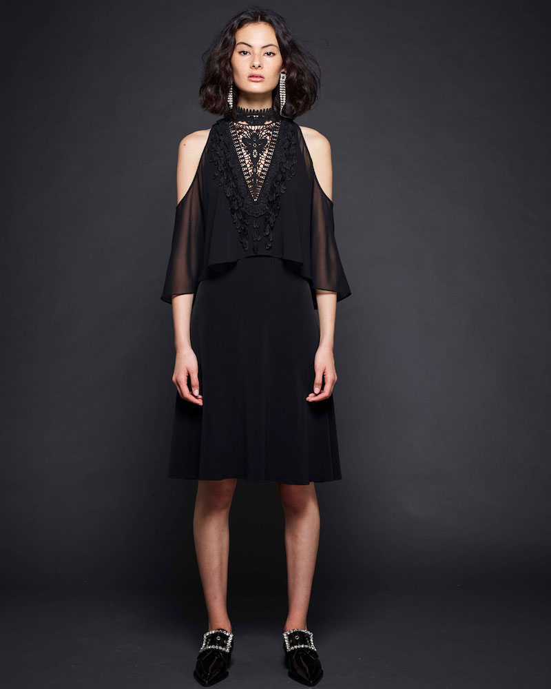 Kobi Halperin Malia Cold-Shoulder Popover Dress