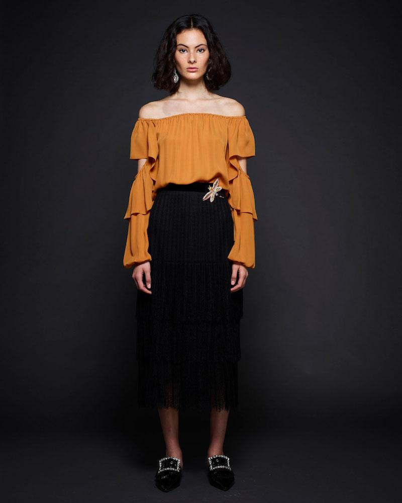 Kobi Halperin Wiley Off-the-Shoulder Silk Blouse