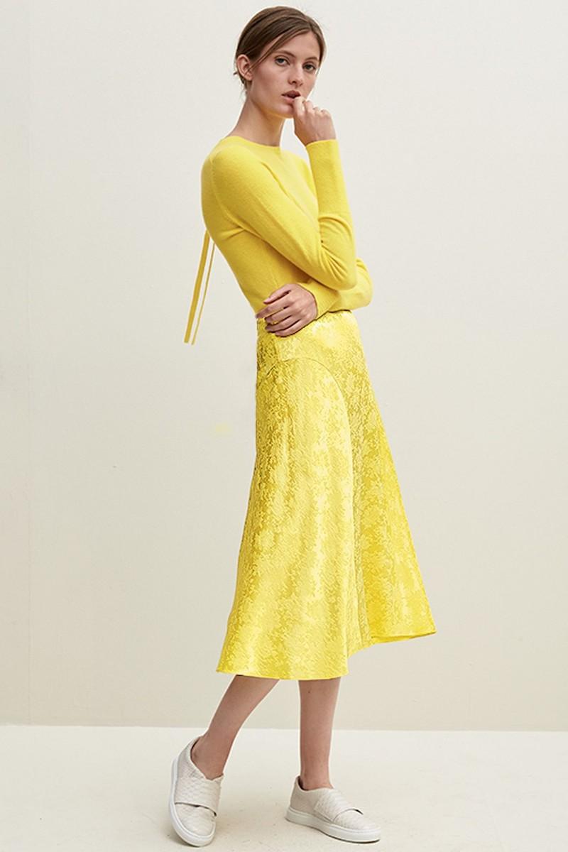 Lewit Jacquard Silk Midi Skirt