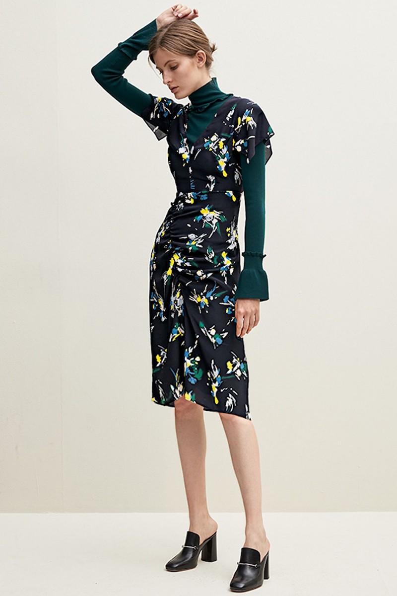 Lewit Print Silk Dress
