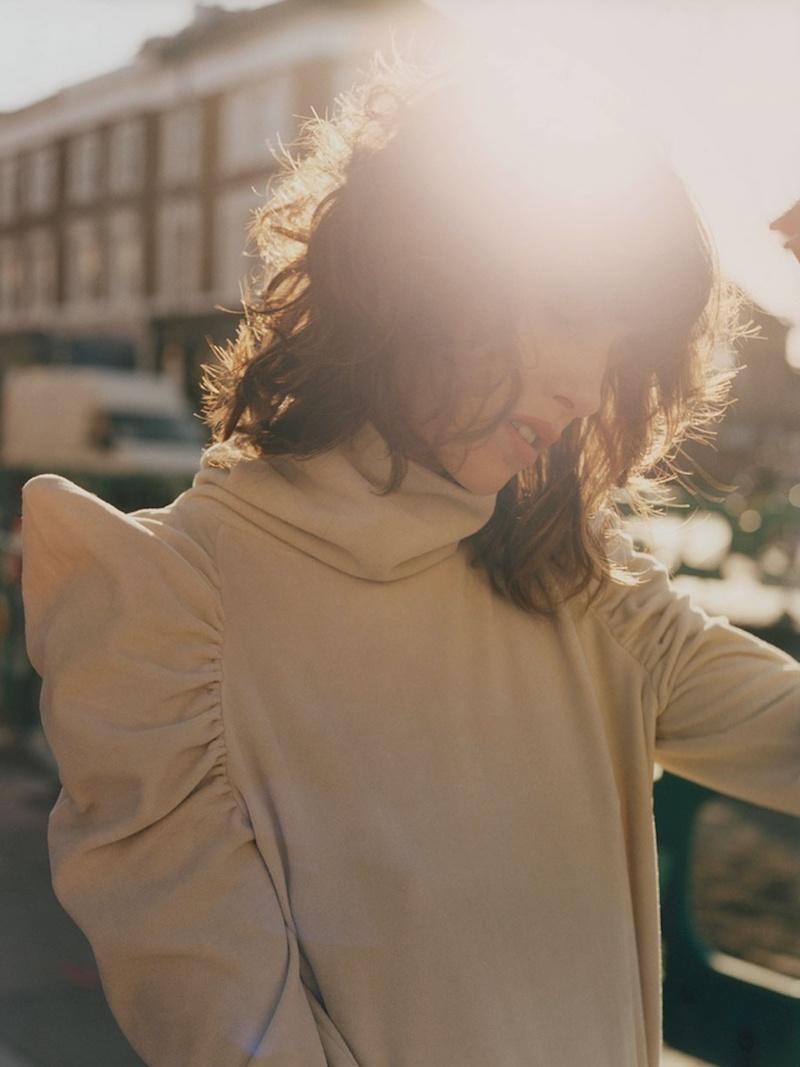 M.i.h Jeans Spider Ruched-Shoulder Cotton-Blend Sweater