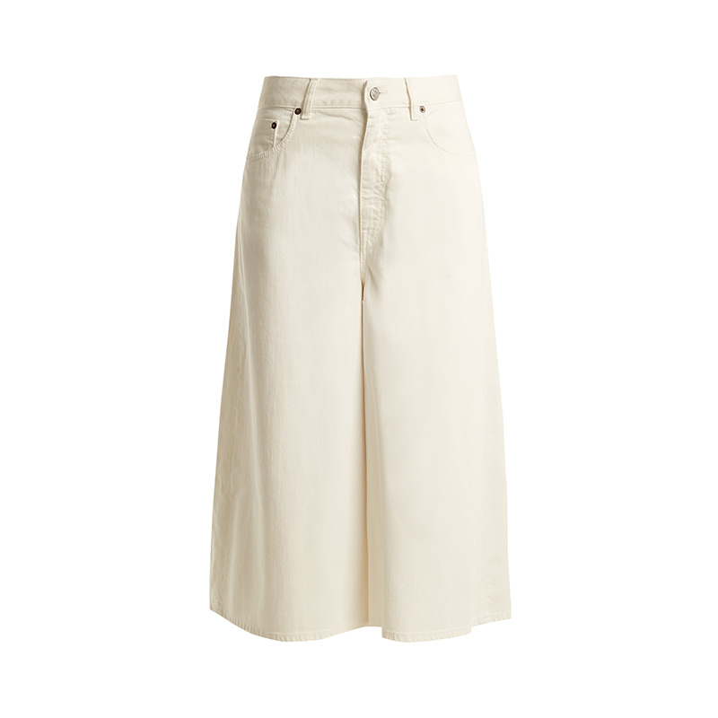 MM6 by Maison Margiela Mid-Rise Wide-Leg Cropped Jeans