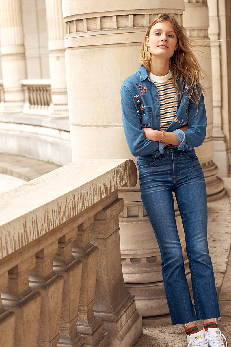 Madewell Cali Demi-Boot Jeans: Raw-Hem Edition