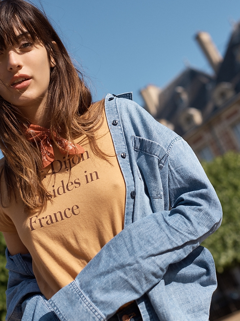 Madewell Cutoff Denim Shirt