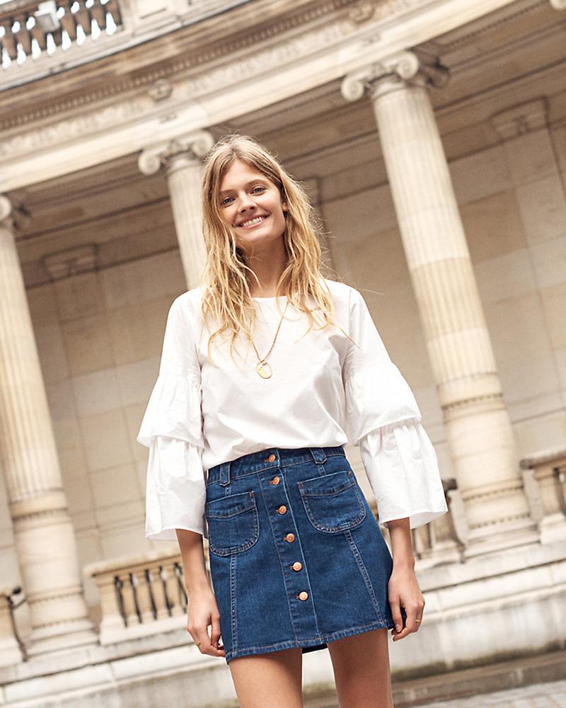 Madewell Patch-Pocket Jean Skirt