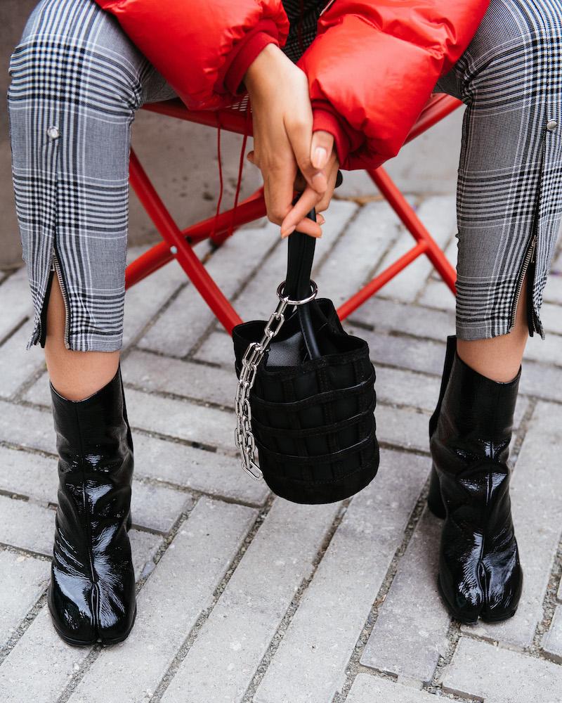 Maison Margiela Tabi Patent Leather Ankle Boots