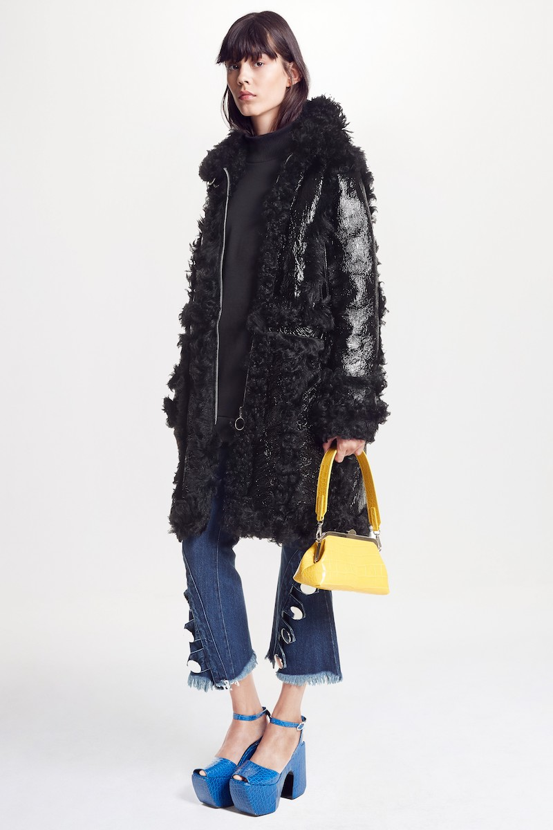 Marques'Almeida Foiled Genuine Shearling Coat
