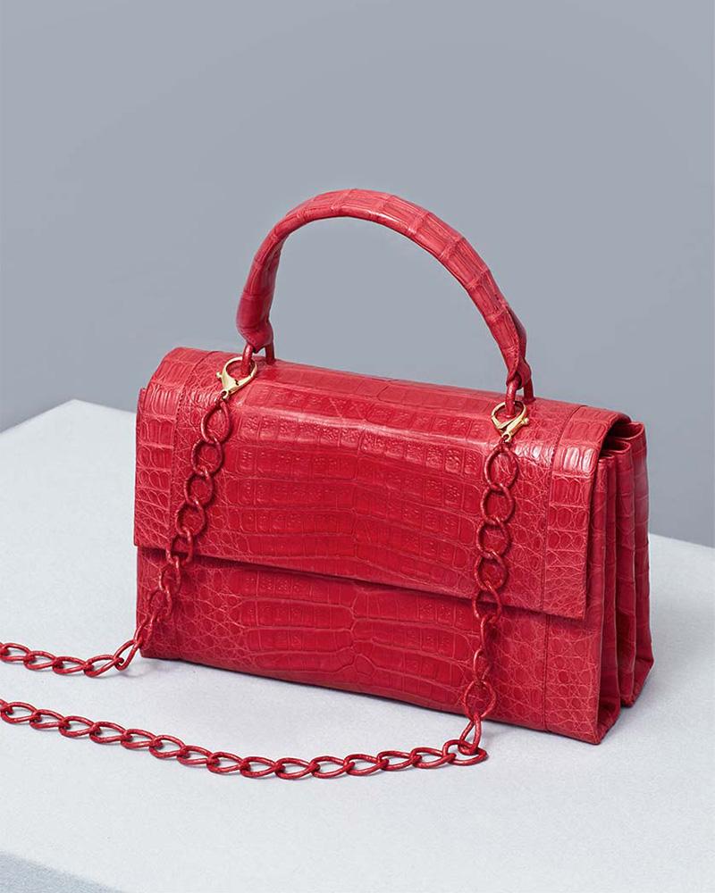 Nancy Gonzalez Large Crocodile Top-Handle Bag