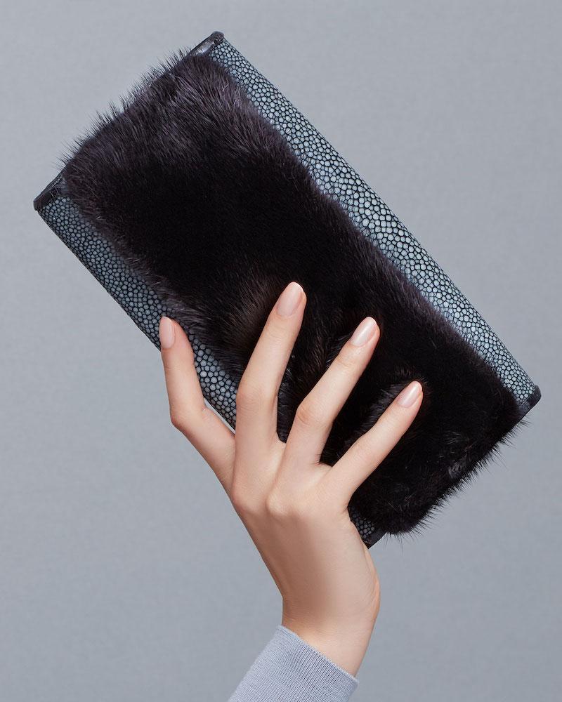 Nancy Gonzalez Stingray Flap Clutch Bag