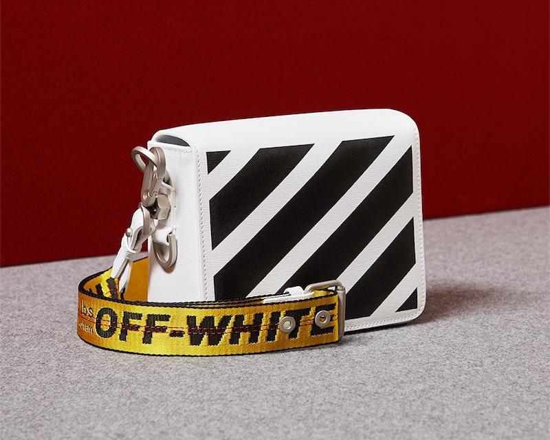 Off-White C/O Virgil Abloh Diagonal Stripe Leather Shoulder Bag