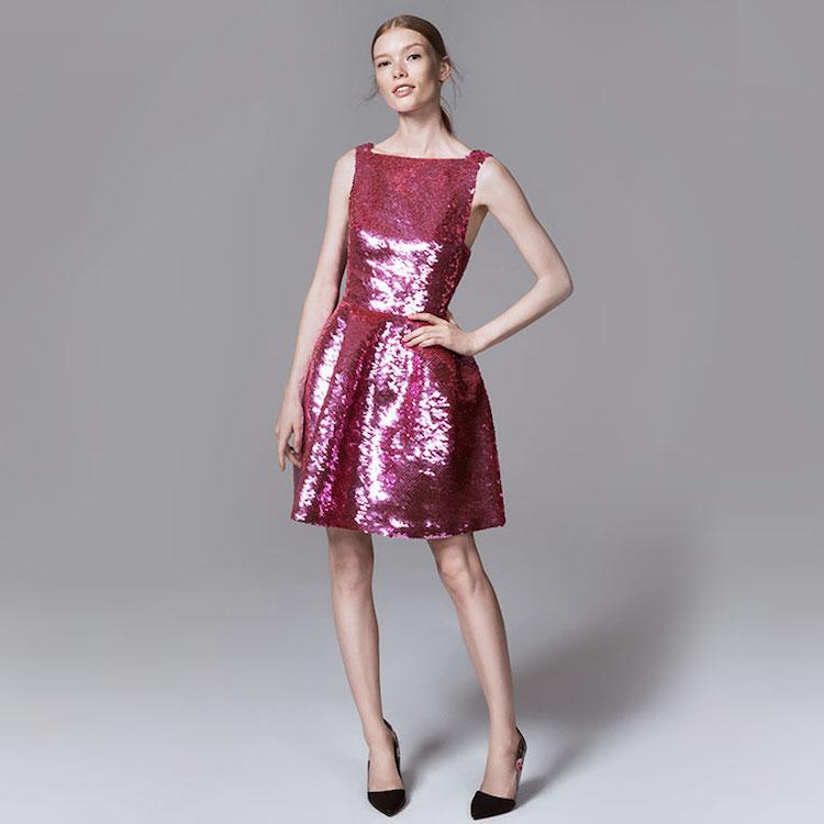 Oscar de la Renta Sequinned Flared Dress