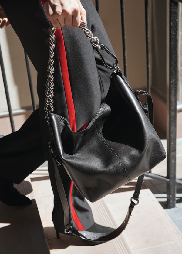 & Other Stories Chunky Chain Leather Duffle