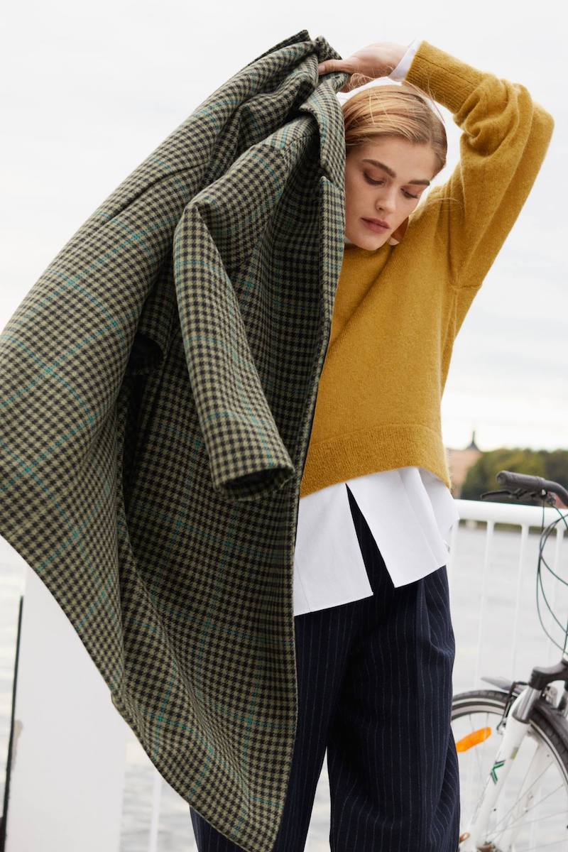 & Other Stories Wool & Mohair Blend Long Coat