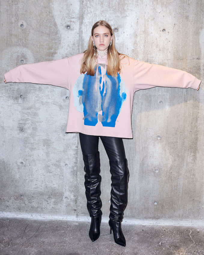 & Other Stories x Kim Gordon Abstract Oversized Hoodie