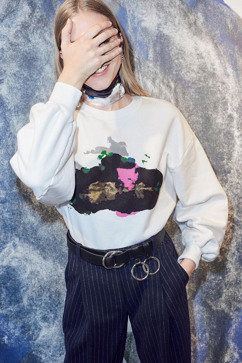 & Other Stories x Kim Gordon Organic Cotton Puffed Sweatshirt