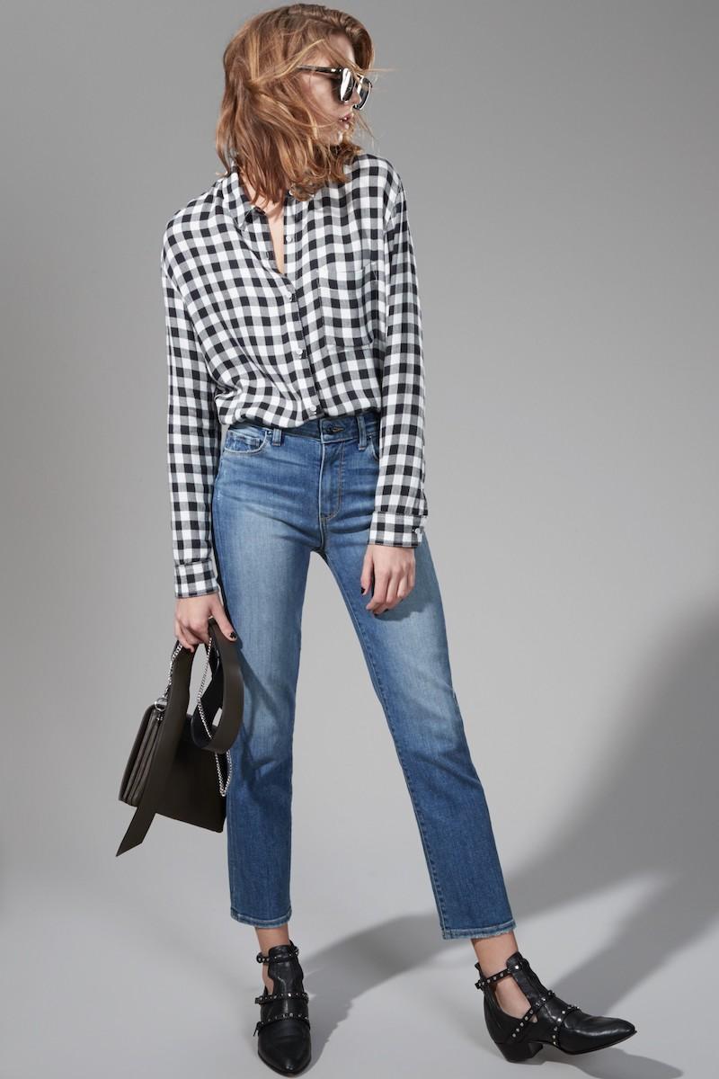 PAIGE Transcend Vintage - Jacqueline High Waist Ankle Straight Leg Jeans