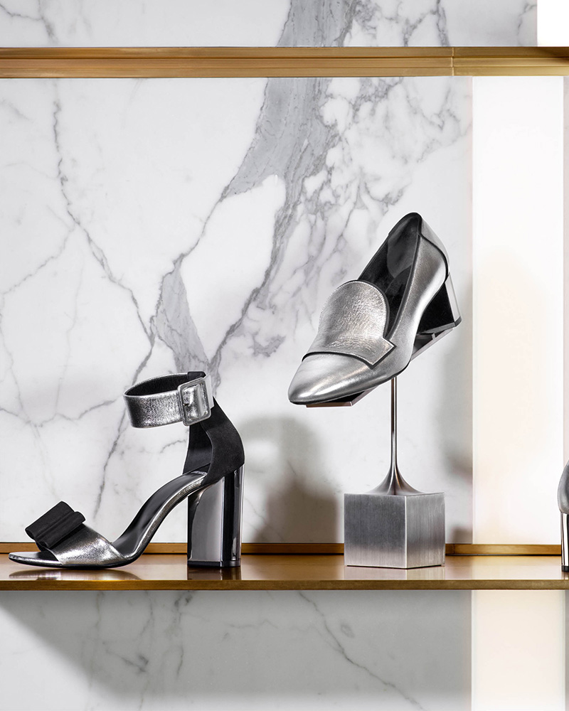 Pierre Hardy Obi Leather & Suede Sandals