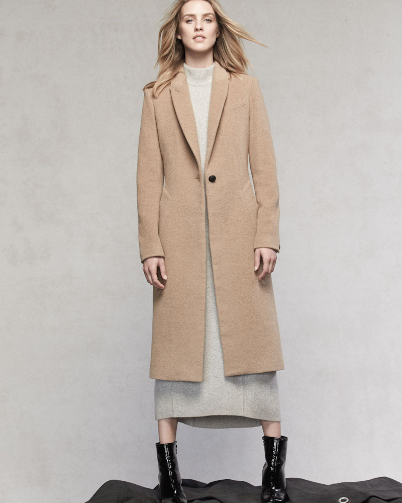 Rag & Bone Duke One-Button Long Wool-Blend Coat