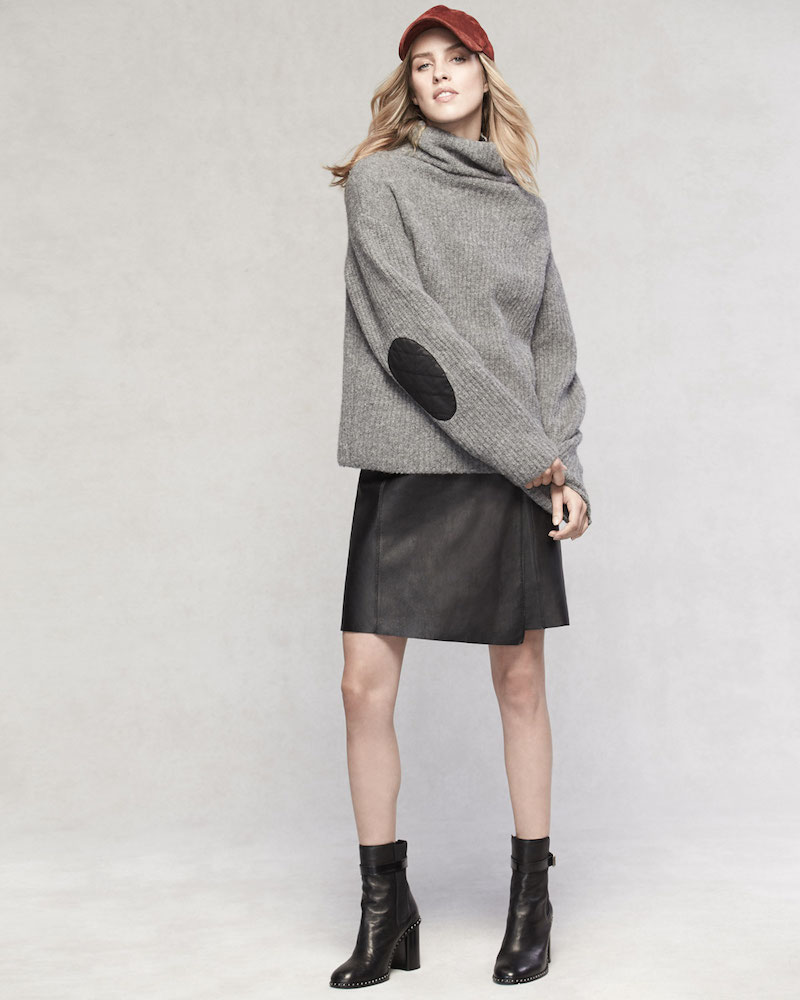 Rag & Bone Lyza Zip-Neck Long-Sleeve Ribbed Wool-Blend Sweater