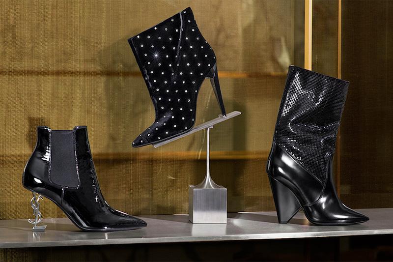 Saint Laurent Opyum Patent Leather Ankle Boots