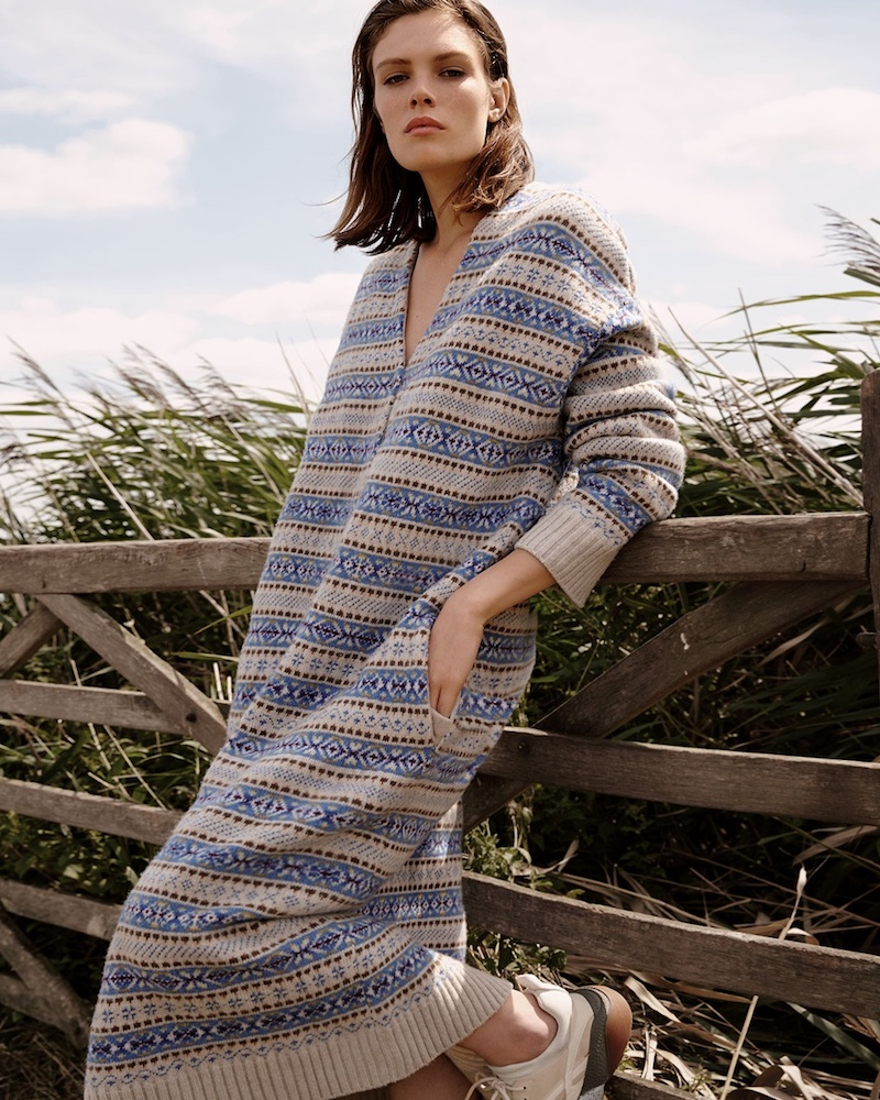 Stella McCartney Fair Isle Oversized Wool Cardigan
