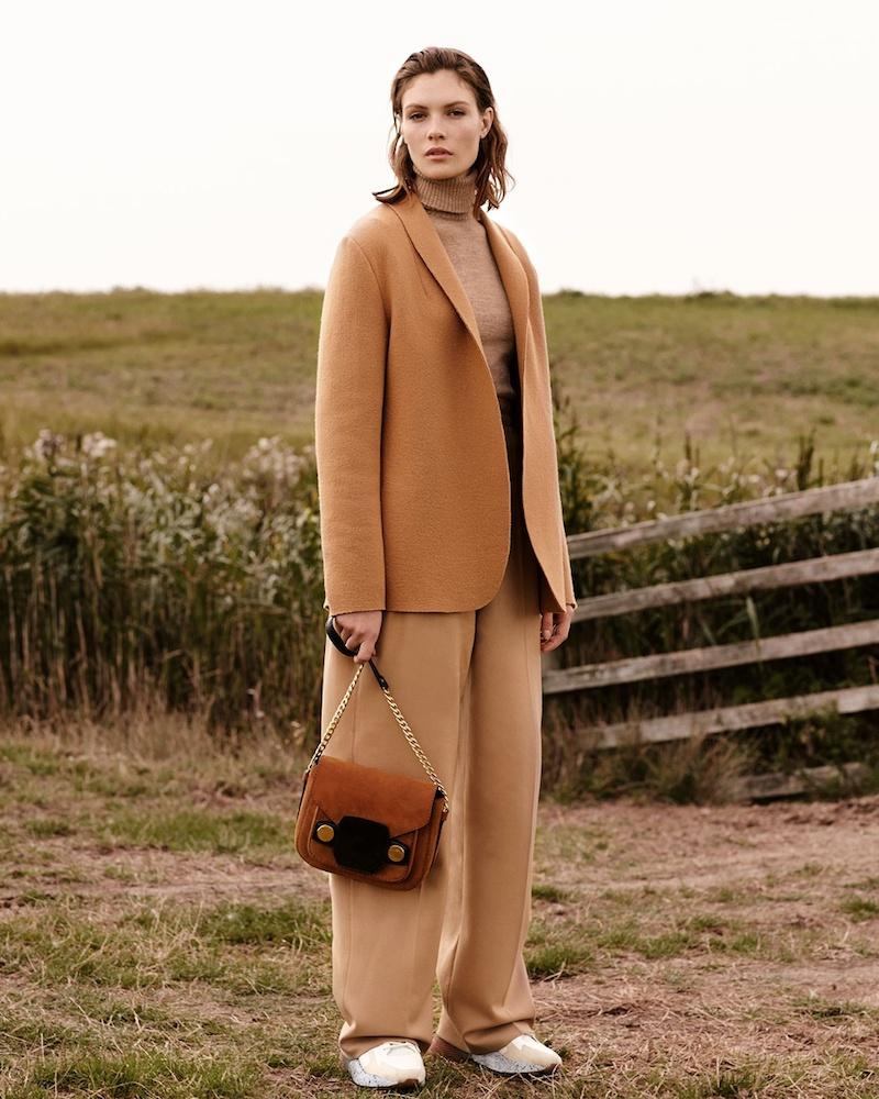 Stella McCartney Shawl-Lapel Raw-Edge Wool Jacket